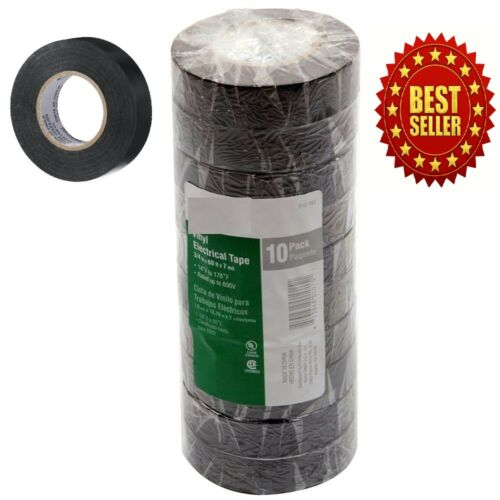 New Global Brand 60-ft Black Electrical Tape 10 Rolls Per Pack