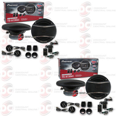 """4 x PIONEER TS-A1306C 5-1/4"""" 5.25-INCH CAR AUDIO 2-WAY COMPONENT SPEAKER SYSTEM"""
