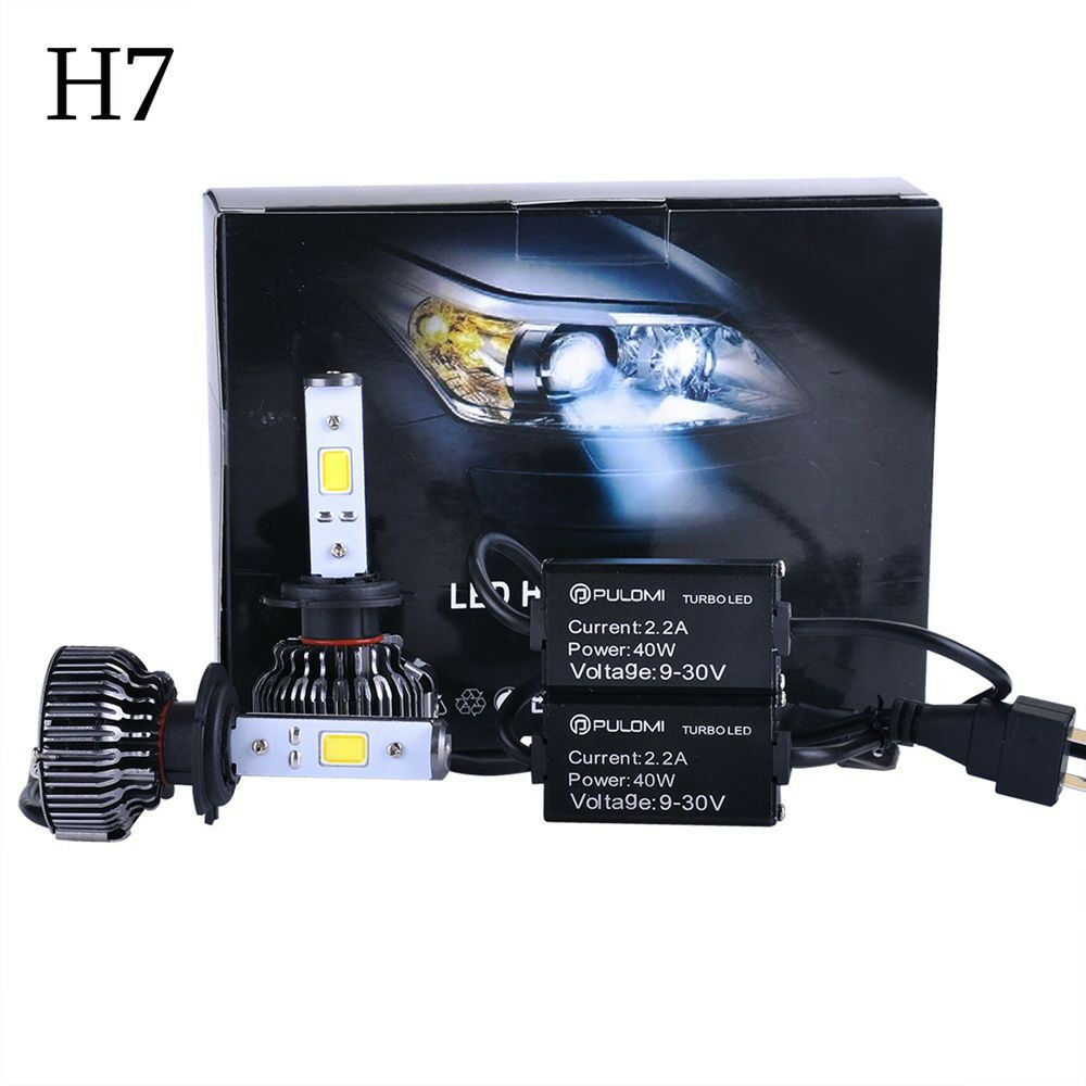 80w 7200lm h7 cree led lampe phare avant kit voiture ampoule 6000k 12v headlight ebay. Black Bedroom Furniture Sets. Home Design Ideas