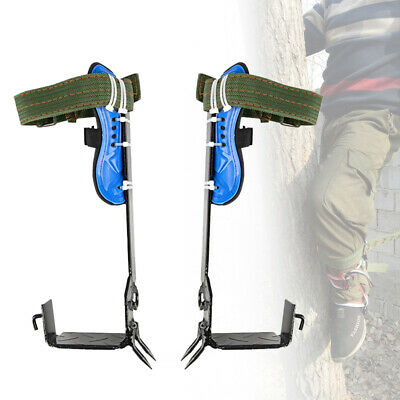 Tree Climbing Spike Stainless Steel Claw Safety Belt Straps Rope Rescue Adjustab