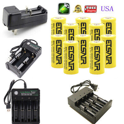 2800mAh Rechargeable 16340 Battery CR123A CR123 and multi-function Smart -