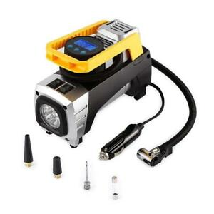 Used Air Compressor Tsumbay Portable Air Compressor Pump 12V Condition: Lightly used, 150 PSI Digital Tire Inflator w...