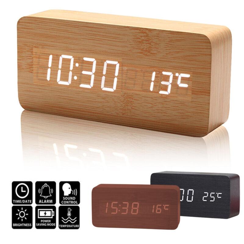 LED Digital Spiegelwecker USB Funkwecker Tischwecker Tischuhr Temperaturanzeige