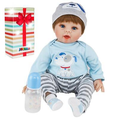 "22"" Lifelike Newborn Baby Doll Vivid Silicone Vinyl Reborn Dolls Growth Partner"