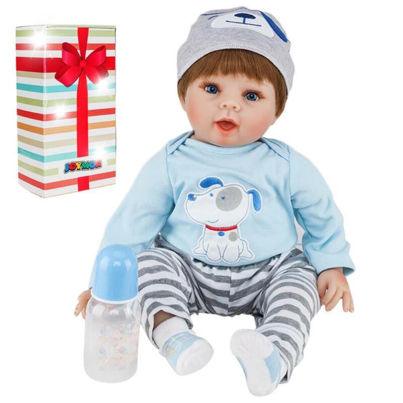 "22"" Lifelike Newborn Baby Doll Vivid Silicone Vinyl Reborn Dolls Growth Partner"