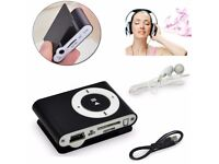 Portable Mini Clip Music MP3 Player Earphone USB Cable Bundle