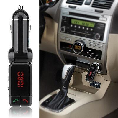 Auto KFZ Bluetooth Freisprecheinrichtung FM Transmitter mit Mikrofon AUX USB MP3