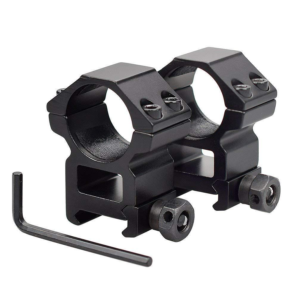 Air Rifle Scope Mounts Rings with Screws 1 inch Tube 20mm