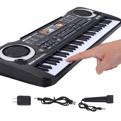 61 Keys Kids Music Electronic Keyboard Digital Piano Set Organ with Microphone