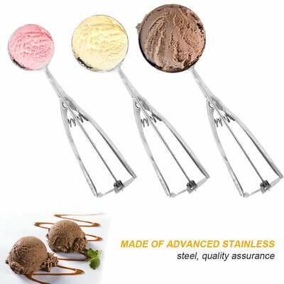 Ice Cream Ball Mash Scoop with Trigger Release Set Stainless Steel Easy Clean