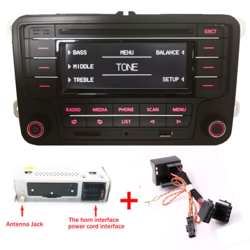 VW Autoradio RCN210 mit CAN Kabel BLUETOOTH CD USB AUX SD GOLF TOURAN JETTA POLO