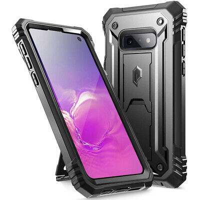 Galaxy S10e Case Poetic® [w/Kick-stand] Armor Heavy Duty Shockproof Cover Black