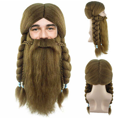 The Lord of the Rings Hobbit Dwarve Viking Warrior Scottish Wig Beard HM-623 - Lord Of The Rings Beards