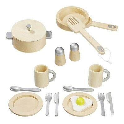 howa Küchenset , Kindergeschirr aus Holz 16 tlg. 4868