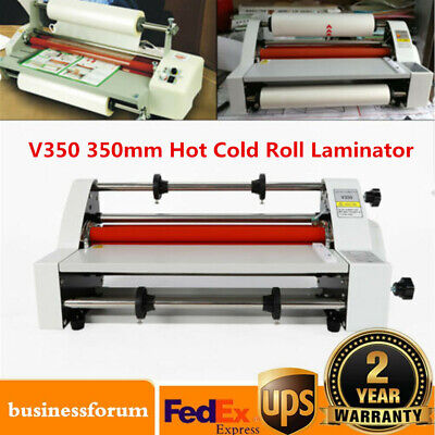 V350 Hot Cold Roll Laminator Laminating Machine Singledual Sided 13 350mm Sale