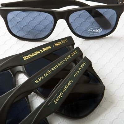 75 Personalized Black Beach Sunglasses Wedding Bridal Party Favors