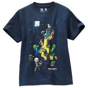 New Boy Minecraft T Shirt Tee Top Size S8  M10/12  L14/16  XL18