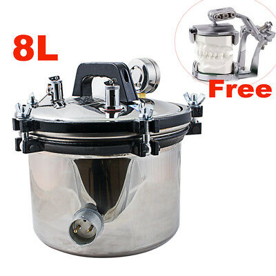 8l Autoclave Dental Stainless Steel Pressure Steam Sterilizer 110v220v Usa