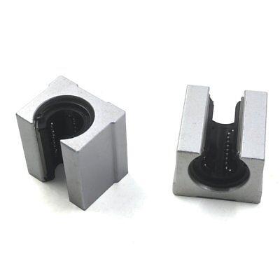 2pcs 12mm Silver Sbr12uu Open Linear Bearing Slide Linear Motion Block For Cnc