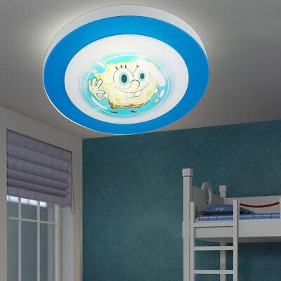Lámpara de Techo Bob Esponja Niños Juego Iluminación Habitación Colorido Redondo