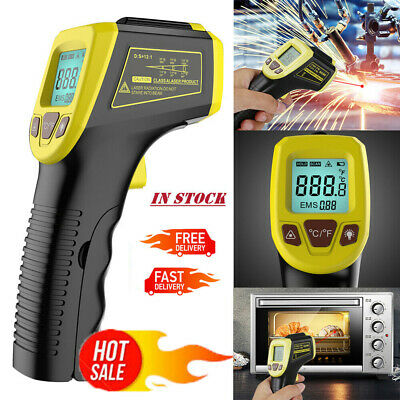 Us Industrial Digital Laser Temperature Gun Infrared Thermometer Non-contact Lcd