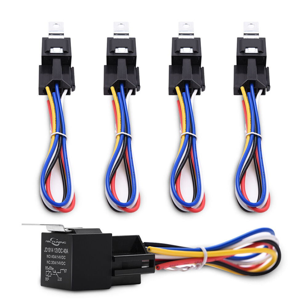 Mictuning Relay Harness 30  40a Spdt Relay 12v 5