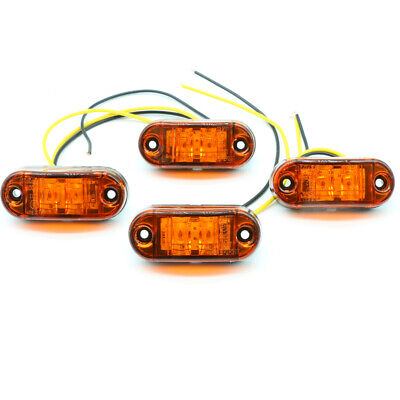 LED Front Side Marker Indicator Light Car Truck Van Trailers Amber Lamp 12V 24V