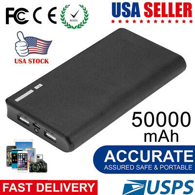 50000mAh Backup External Battery USB Power Bank Pack Charger for Cell Phone USA Cell Phone Accessories