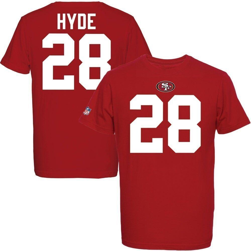 NFL T-Shirt San Francisco 49ers Carlos Hyde 28 Redburn Football Trikot Jersey