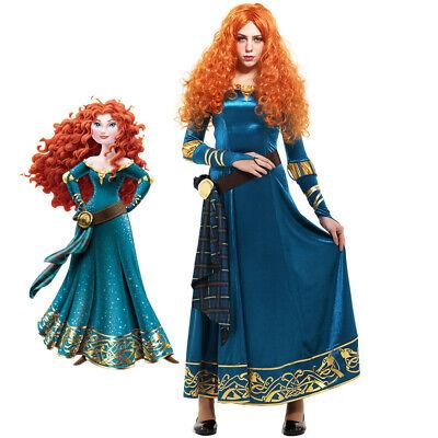 Exclusive Brave Princess Merida Costume Adult Cosplay Pleuche Dress Fullset](Merida Brave Adult Costume)