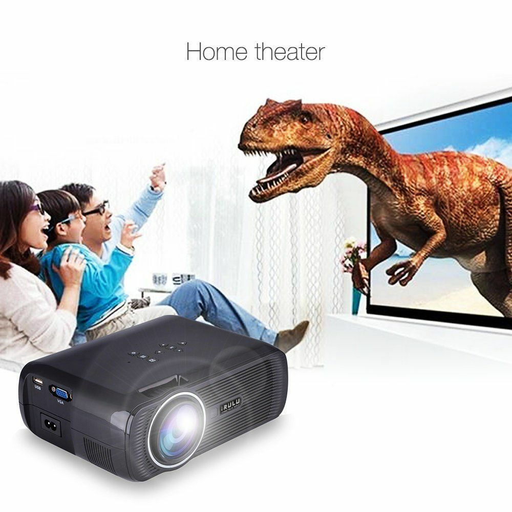 5000Lumens Full HD1080P LED LCD 3D VGA HDMI Home Theater Projector Cinema LOT VP