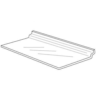 Clear Acrylic Slatwall Display Shelf 12 X 6 53871