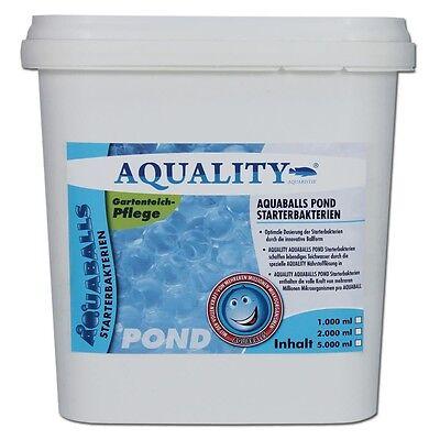 (7,60€/ltr)AQUALITY AQUABALLS Bakterienstarter 5000 ml Schlammabbau Gartenteich