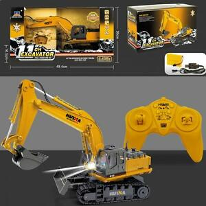 Remote Controlled Excavator Rc Truck Childrens Jcb Construction Digger Toy Gift