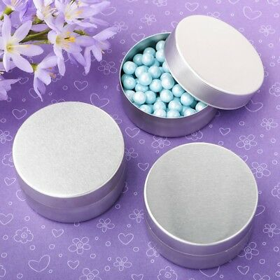120 Metallic Silver Metal Candy Box Mint Tin Wedding Bridal Shower Party Favors