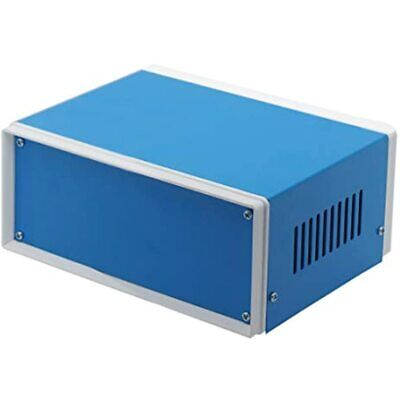 Zulkit Junction Box Blue Metal Rectangle Project Diy Electric Enclosure Case 6.7