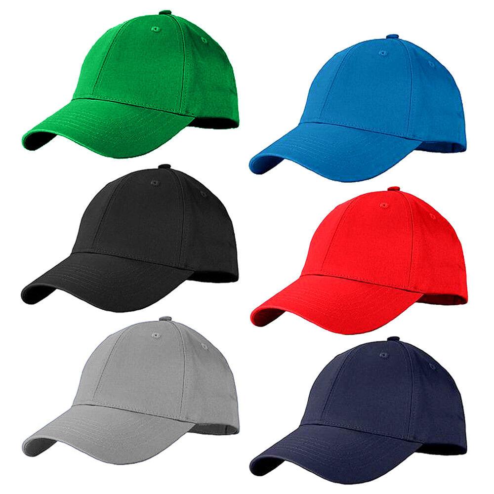 Unisex Baseball Cap Plain Blank Cotton Adjustable Size Cool