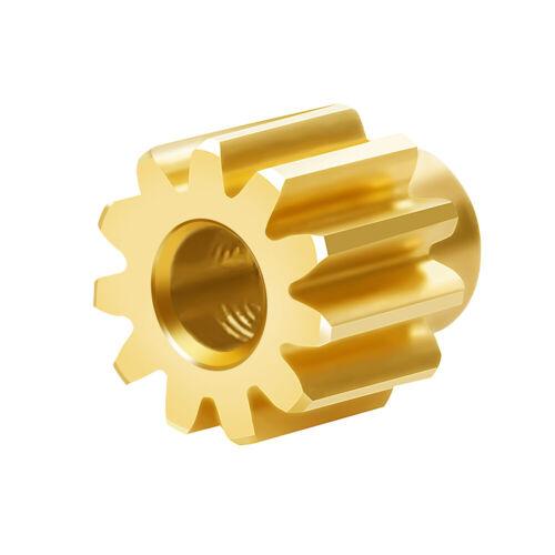 Car Parts - Brass 11T Teeth Motor Gear Repair Parts for 1:24 Axial SCX24 RC Car Crawler