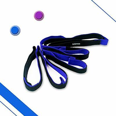 """Stretch Out Strap With Loops Exercise Band Stretching Straps Fitness Rehab For """""""
