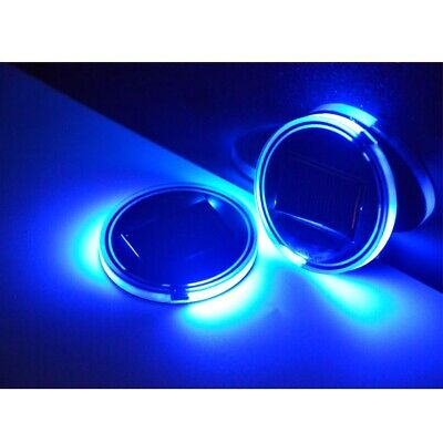 Universal Solar LED Lights Car Cup Holder Mat Drinks Coaster Blue Accessories Honda Element 2003 Accessories