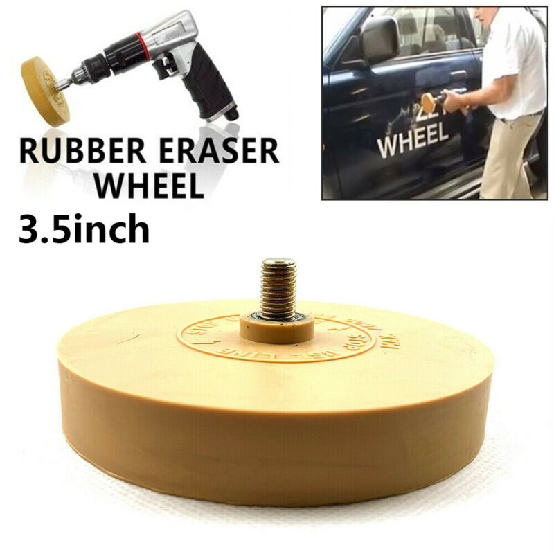 Heavy Duty Pinstripe Car Decal Rubber Eraser Wheel Pad Sticker Removal Tool