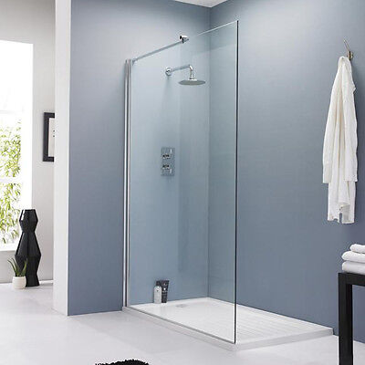 Hudson Reed 1200mm Walk In Wet Room Shower Screen Panel 8mm Easy Clean Glass