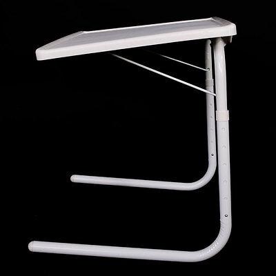 New 1 Pcs White Bed Sofa Table Smart Companion Foldable Folding Adjustable Tray ()