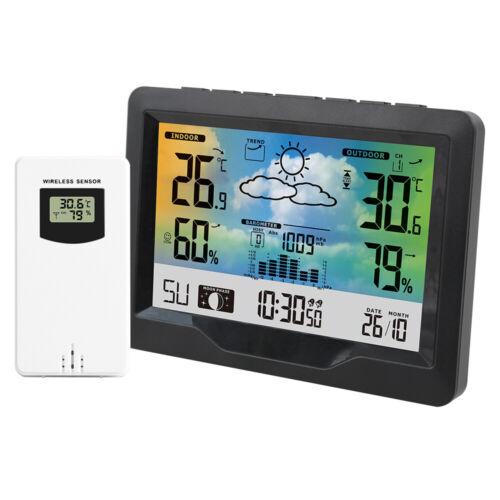 FanJu Weather Station  Digital Alarm Clock Thermometer  Hygr