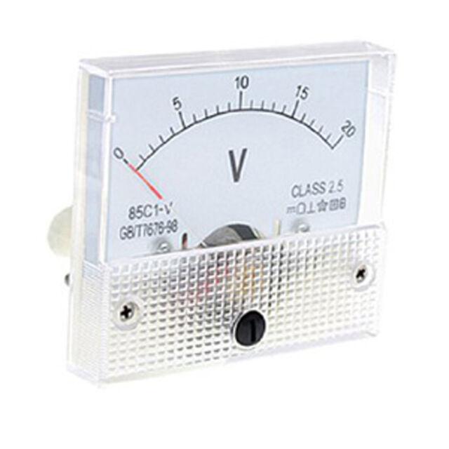 Hot Sale White DC 0~20V 85C1-V Class 2.5 Voltmeter Analog Volt Panel Meter CA