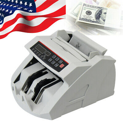 Us Led Money Bill Counter Counting Machine Counterfeit Detector Uv Mg Cash New