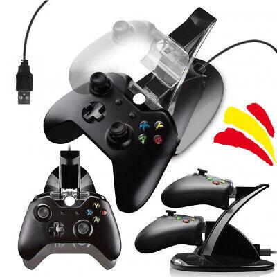 Base de carga mando Xbox One Cargador Dual USB y luz LED