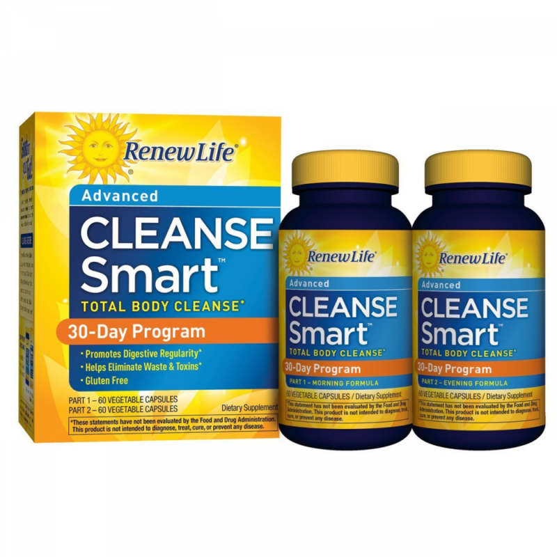 Renew Life CleanseSmart 60 + 60 Vegetable Capsules