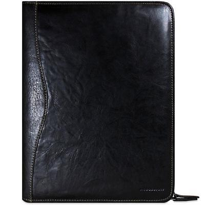 Jack Georges Voyager Letter Size Zip Around Writing Pad Black 7112 Blk