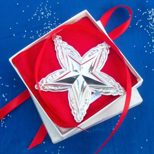 RARE • NEW • LUNT 1995 STAR Sterling Silver Christmas Ornament / Pendant